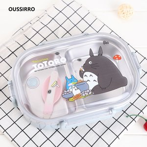 304 Stainless Steel Totoro Thermal Lunch Box Kid Adult Bento Boxs Leakproof Japanese Style Food Container Portable W2929 C0125