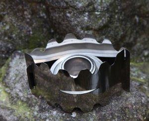 Açık Paslanmaz Çelik Alkol Soba İki Parçalı Set Cam Braketi Hiking Kamp