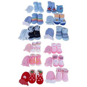 Baby Cotton Socks Sets Newborn Kids Socks +Anti-scratch Gloves Boys Girls baby's Gift Baby Gloves Prevent Scratch Face