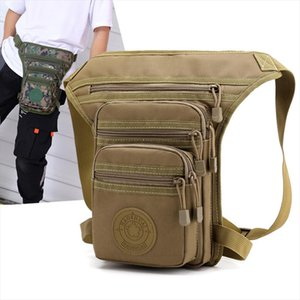 Male Hip Thigh Fanny Pack Military Camouflage Motorcycle Rider Multi Pockets Shoulder Bags High Quality Men Nylon Waist Leg Bag