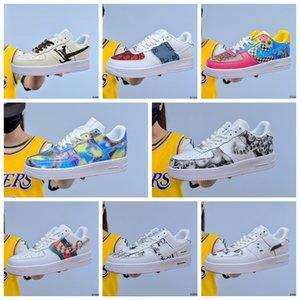 2020Hot dunk pas cher 1 Utilitaire Chaussures de course Hommes Femmes air triple af 1 forces Airforce un des hommes de planche à roulettes de taille de sports formateurs 40-45