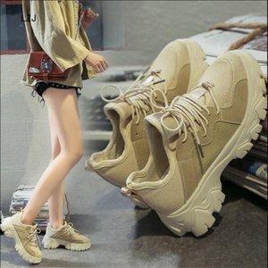 LZJ 2020 Neue Herbst Winter Frauen Stiefel Hohe Qualität Massive Schnürung Frauen Schuhe Runder Kopf Mode High Heels Boots 35-401