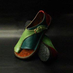 Wigqcy mujeres cómodas zapatos llanos plataforma plana damas casuales de punta grande de punta de pie de punta sandalias ortopédico juanete corrector flip flop # MW4S
