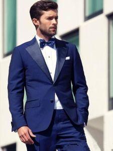 Two Pieces Formal Men Suits Groom Tuxedos Custom 2020 Groomsmen Wedding Suits Business Wear (Jacket+Pants+Tie)