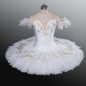 Bianco Swan Lake Lake Professional Balletto Tutu per bambini Bambini adulti Donne Ballerina Party Dance Costumes Ballet Tutu Baledress Girl