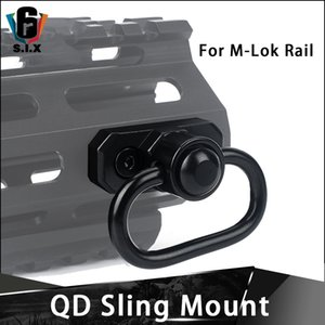 Liga de alumínio QD Sling Swivel Adapter Monte Para M-Lok Rail System AR 15 Hunting Acessórios