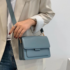 Solid Color PU Leather Crossbody Bags For Women 2021 Luxury Quality Shoulder Simple Female Handbags and Purses