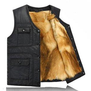 2020 Casual Solid Winter Real sheep fur Short jacket Men shearling vest fur male plus size inter mens Cashmere coat travel vest