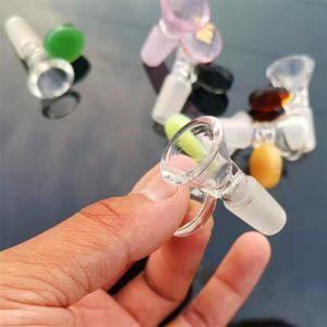 Cam Shisha Nargile Bölüm Çok Renkler Şeffaf Cam Adaptörü Bağlayıcı Arabirimi Taşınabilir Nargile Aksesuarları Yeni Varış 4 5HX E19