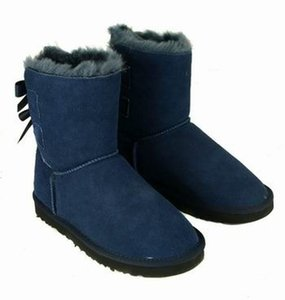 2017 New Fashion Australia classic tall winter boots real leather Bowknot women's snow boots shoes