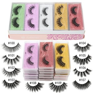10 Pair Eyelashes 3D Faux Mink False Eyelashes Handmade Long Lasting Wispy Full Black Soft Strip Curly False Lashes