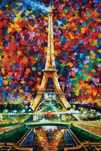 PARIS Leonid Afremov Home Decor pintado à mão HD Pinturas Imprimir óleo sobre tela Wall Art Pictures 201007