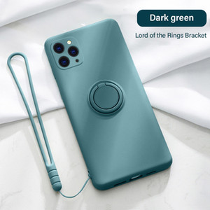 Silicone Magnetic Holder iphone 12 pro max phone cases iphone 11 pro max case xs max xr xs x 8 7 Stand Finger Ring Bracket coque iphone 11
