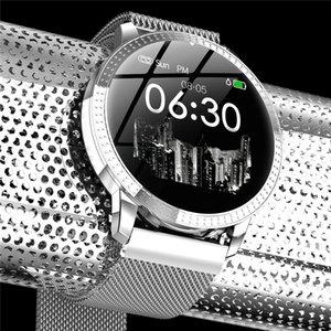 Schermo a colori OLED impermeabile Pressione Donne Smartwatch CF18 intelligente IP67 Sangue Tracker Moda Uomo Sport modalità Orologio