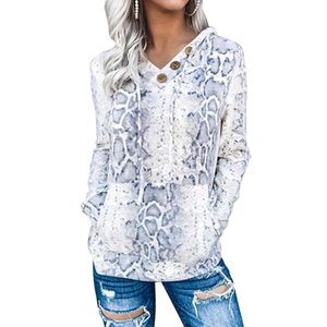 Ladies Fashion Hoodies Sweatshirts Design Women's Autumn Stitching Animal Texture Pattern Top Sra Moletons Com Capuz