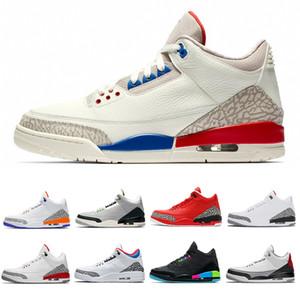 С коробкой Международный рейс мужские баскетбольные туфли черные цементные инфракрасные 23 Сеул чистые белые туфли спортивные кроссовки тренеров SZ 7-13