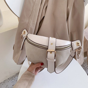 Fashion Chain Fanny Pack Banana Waist Bag New Brand Belt Bag Women Waist Pack PU Leather Chest Bag Belly