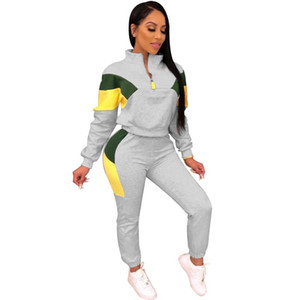 Autumn Tracksuit Women Casual Two Piece Set Top and Pants Fall Plus Size Sweat Suit Women Sport 2 Piece Matching Set Outfit
