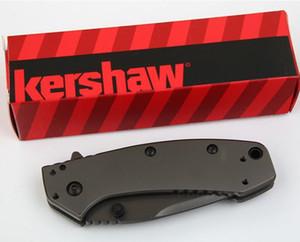 Kershaw 1555Ti 티타늄 전술 접이식 나이프 Hinder 디자인 플리퍼 캠핑 사냥 생존 포켓 나이프 8Cr13Mov 유틸리티 EDC 컬렉션