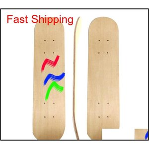 Planche à roulettes bricolage peint à la main patiné longboard 7floors hoverboard 7Floors scooters en bois board plan planche enfants dessin 16jl c2 kvqgn