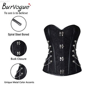 Burvogue Steampunk Waist Control Sexy Corsets And Bustie Steel Bone Corset Top Overbust Gothic Bustier Corselet Plus Size Good