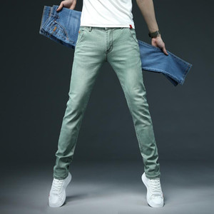 2020 Mens jeans Fashion Men Casual Slim fit Straight High Stretch Feet skinny jeans men Multicolor hot sell male trousers 28-38