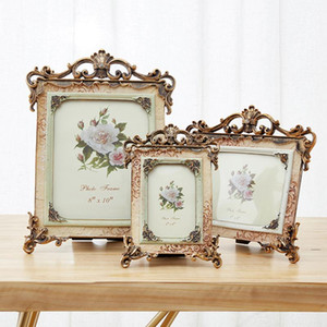 Retro Resin Wedding Picture Frame 5 Inch Double Frame Home Desktop Decoration European Luxury Creative Photo