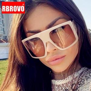 RBROVO 2020 gafas de sol de gran tamaño de las mujeres de los vidrios de la vendimia para las mujeres / de los hombres marca de diseño de las lentes de las mujeres Gafas de sol retro Mujer