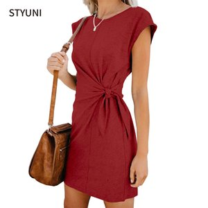 Robe de sangle à manches courtes styni