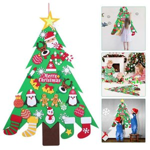 DIY Felt Christmas Tree Wall-Mounted Party Home Ornament for Kids Xmas Gift Hogard