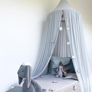 Kids Baby Bed Canopy Bedcover Mosquito Net Curtain Bedding Dome Tent Cotton UK Mosquito Net Girls Room Decoration Pest control