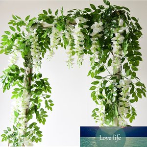 7ft 2m Flower String Artificial Wisteria Vine Garland Plants Foliage Outdoor Home Trailing Flower Fake Flower Hanging Wall Decor