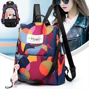 SHUJIN Womens Anti theft Backpack Fashion Simple Solid Color Female School Bag Oxford Cloth Shoulder Bag 2019 New Fashion