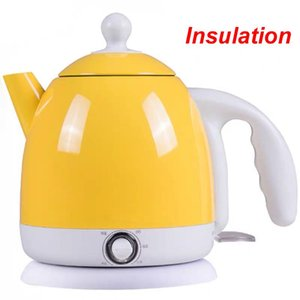 220V Thermal Insulation Electric Kettle Hot Water Heating Boiler Pot Stainless Steel 1L Mini Travel Teapot Milk Heater Warmer EU