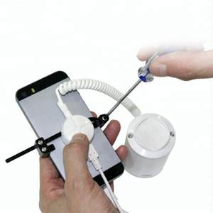 (8 insieme / lotti) abs bianco Adesivo fissati facile installare Android Phone negozio al dettaglio demo dal vivo supporto di anti allarme antifurto visualizzazione di sicurezza