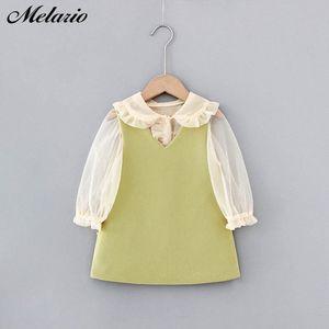Melario Mädchen 2020 Herbst-Kind-Kleidung Outfits Baby Shirts Kleid Kinder Langarm Prinzessin Vestidos 5Iax #
