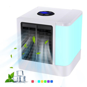 Mini Air Conditioners Personal space Cooler Portable LED Table Fan Speed Ultra-Quiet Arctic Air Humidifier Purifier Room Cooling