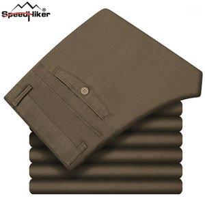 Velocidad Caminante 2020 pantalones para hombre otoño invierno grueso casual recto largo masculino 100% algodón pantalones pantalones suaves cómodos 29-421
