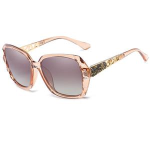 Вверх Мода женщин дизайнера бренда SunGlass поляризованном большой размер канала Солнцезащитные очки UV400 Gradient Lunettes де Солей Femmes