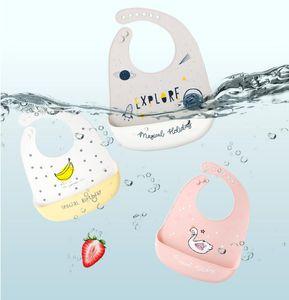 Baby's Silicone Bib Baby едят нагрудник детский водонепроницаемый грязный рот сумка детская риса не моется