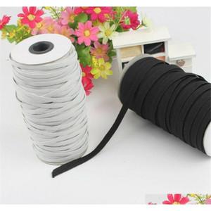 Premium di alta qualità 109 yards nero pesante stretch maglia elasticizzata corda elastica corda elastica corda elastica per maschera facciale Qylzux Garden2010