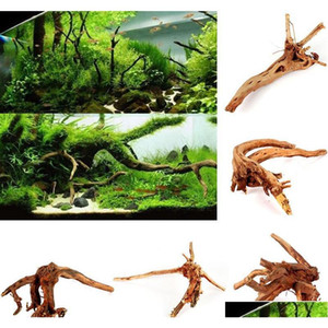 الجملة-Driftwood الحوض حلية جدعة الوقواق الجذر شجرة جذع ديكور خزان الأسماك الزينة الأسماك القوس حوض السمك exzjs