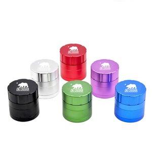 Metal Tobacco Smoking Herb Grinder 4 Layers Raw Grinders Smoke Accessories In Retail Pack Diameter 53mm HH7-1399