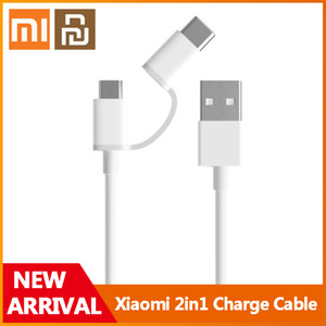 Xiaomi Youpin Two in One Charging Cable Micro USB to Type-C Support Fast Charge for Xiaomi Smart Phone Xiaomi Mi Pad
