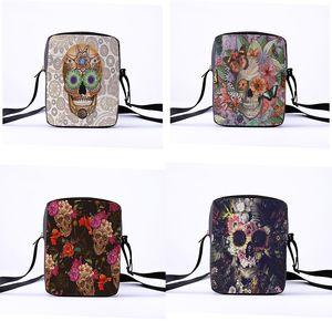 Custom ladies & crossbody shoulder bag printing The skeleton series shoulder bag punk skull pattern shopping leisure bag