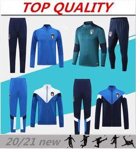 2019 2020 2021 Italie Survêtement plein Survêtement de football veste de football Zipper Survetement 19-21 Italie abbigliamento sportivo sportswear