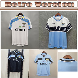 Retro classic 1989 1990 1991 1992 1999 2000 2001 2014 lazio soccer jerseys NEDVED SIMEONE SALAS GASCOIGNE home away Retro football shirt