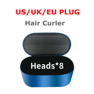 2021 Qualidade superior Cabelo Encrespador 8-Cabeças Multi-Função Device Styling Device Automático Ondulado Ferro para Cabelo Normal EU / UK / US com caixa de presente