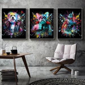 AAHH Pintura de animales Pintura Imágenes Figura Figura Arte de la pared Lienzo Pintura Imprimir Moderno Trippy para la sala de estar Decoración de la casa Sin marco