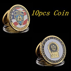 10pcs USA New York Sacrifice Warriors Police Heroes Memorial Eagle Challenge Coin USA Collection Gifts